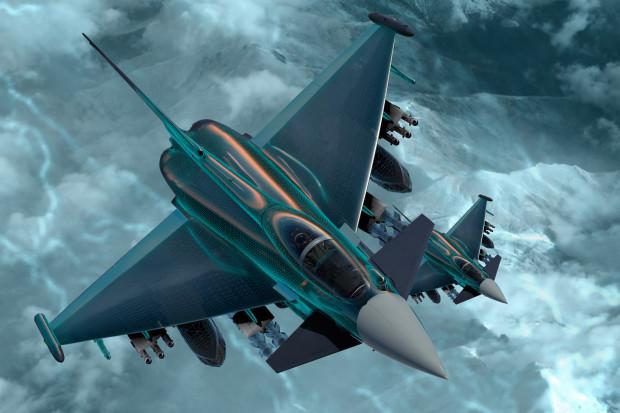 Eurofighter Typhoon z systemem ochrony Praetorian