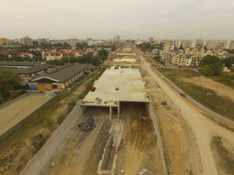 Budowa tunelu przez Ursynów. fot. GDDKiA