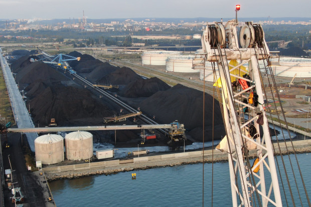 Ekolodzy zakończyli blokadę terminalu węglowego w Porcie Gdańsk