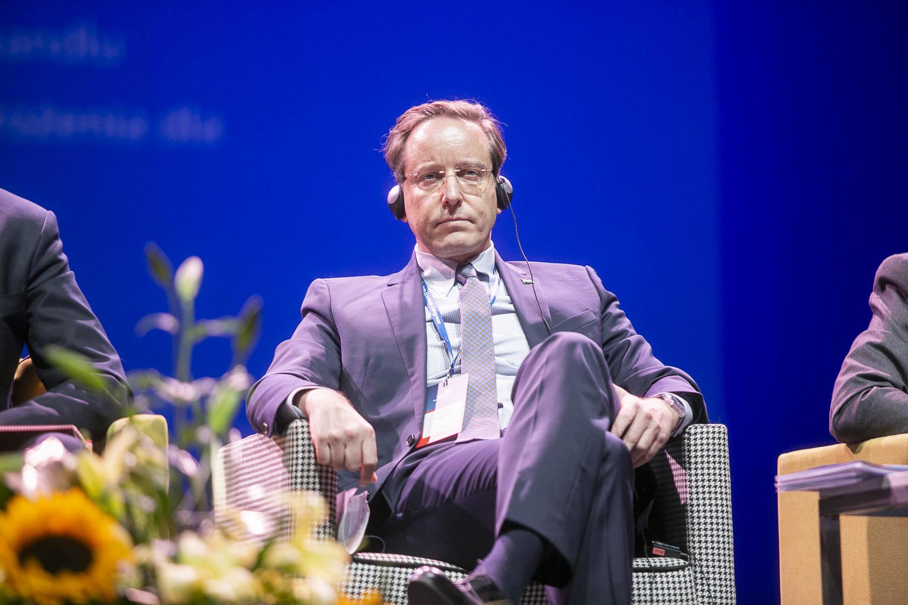 Balazs Rakossy sekretarz stanu ds. funduszy europejskich w węgierskim ministerstwie finansów.
