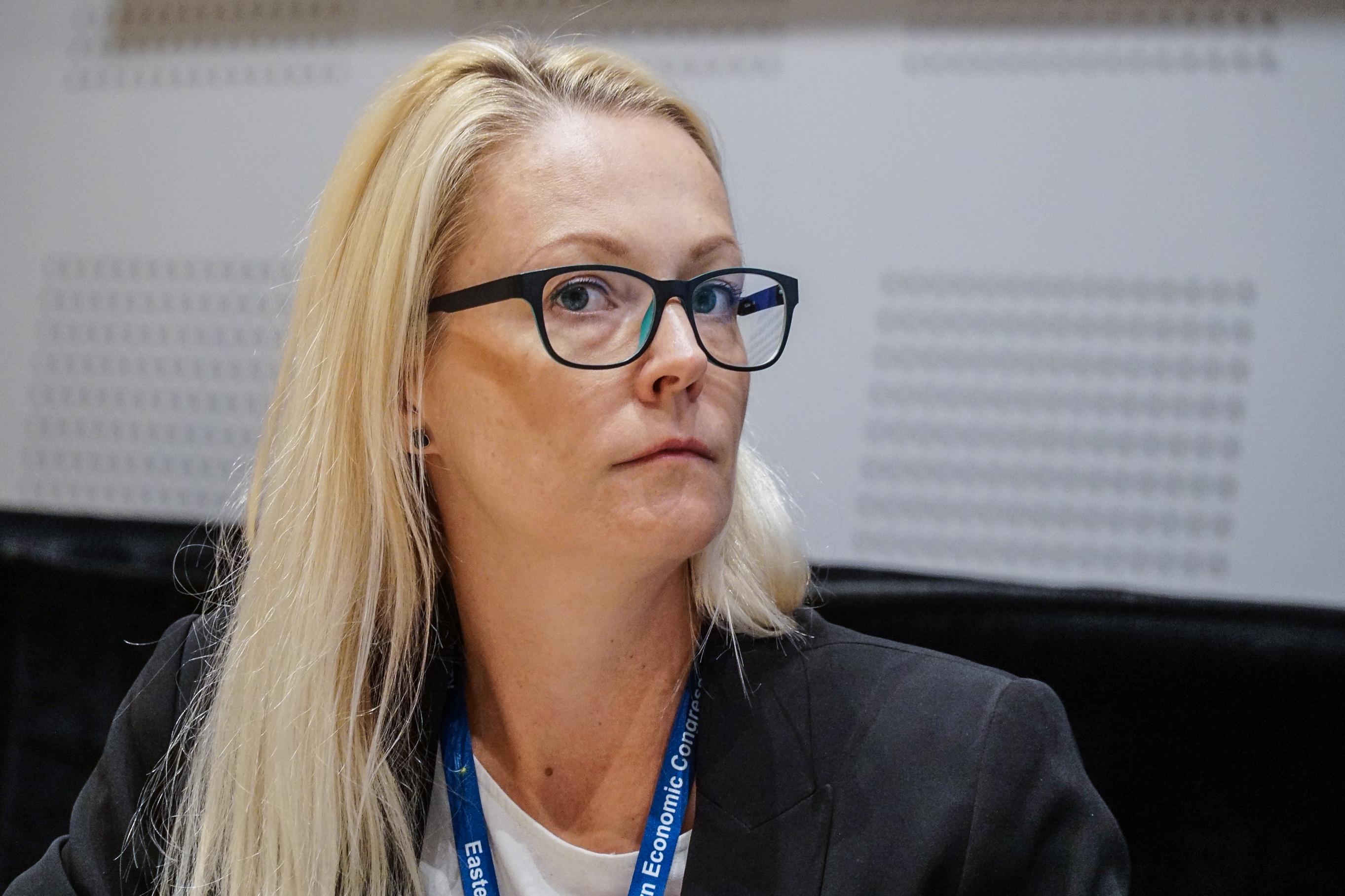 Izabela Bartnicka uważa, że trzeba zapewniać warunki do możliwe szybkiej zmiany kompetencji zawodowych (fot. PTWP/Michał Oleksy)