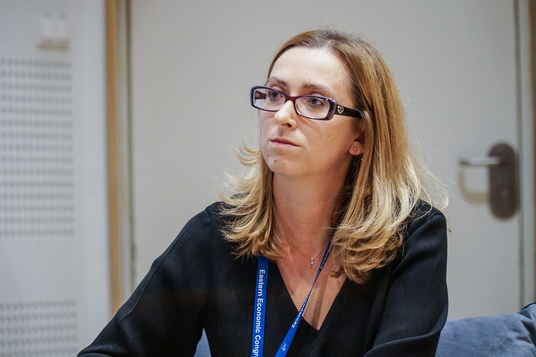 Małgorzata Gleń, moderator dyskusji, dyrektor grupy fuzji i przejęć w Dziale Doradztwa Podatkowego KPMG (fot. PTWP/Michał Oleksy)