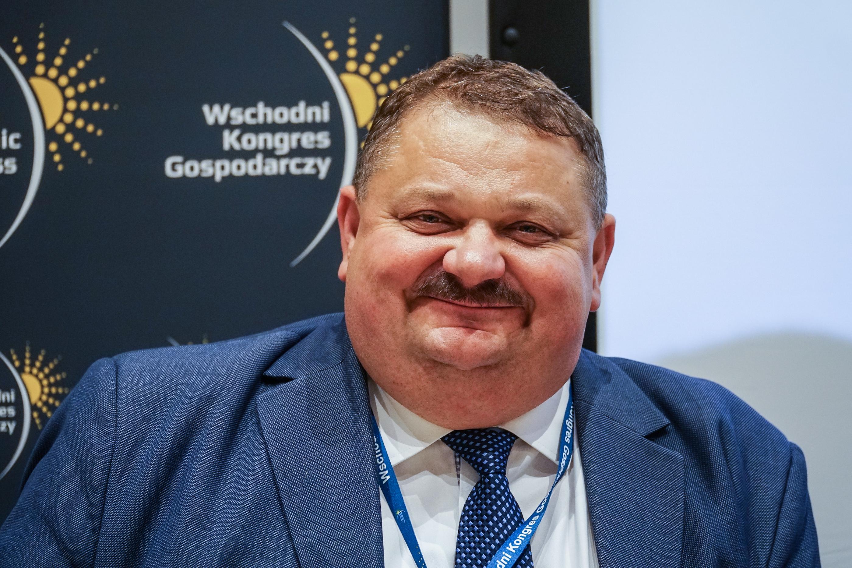 Stanisław Derehajło podkreśla wagę zapewnienia powszechnego dostępu do szybkiego internetu (fot. PTWP/Michał Oleksy)