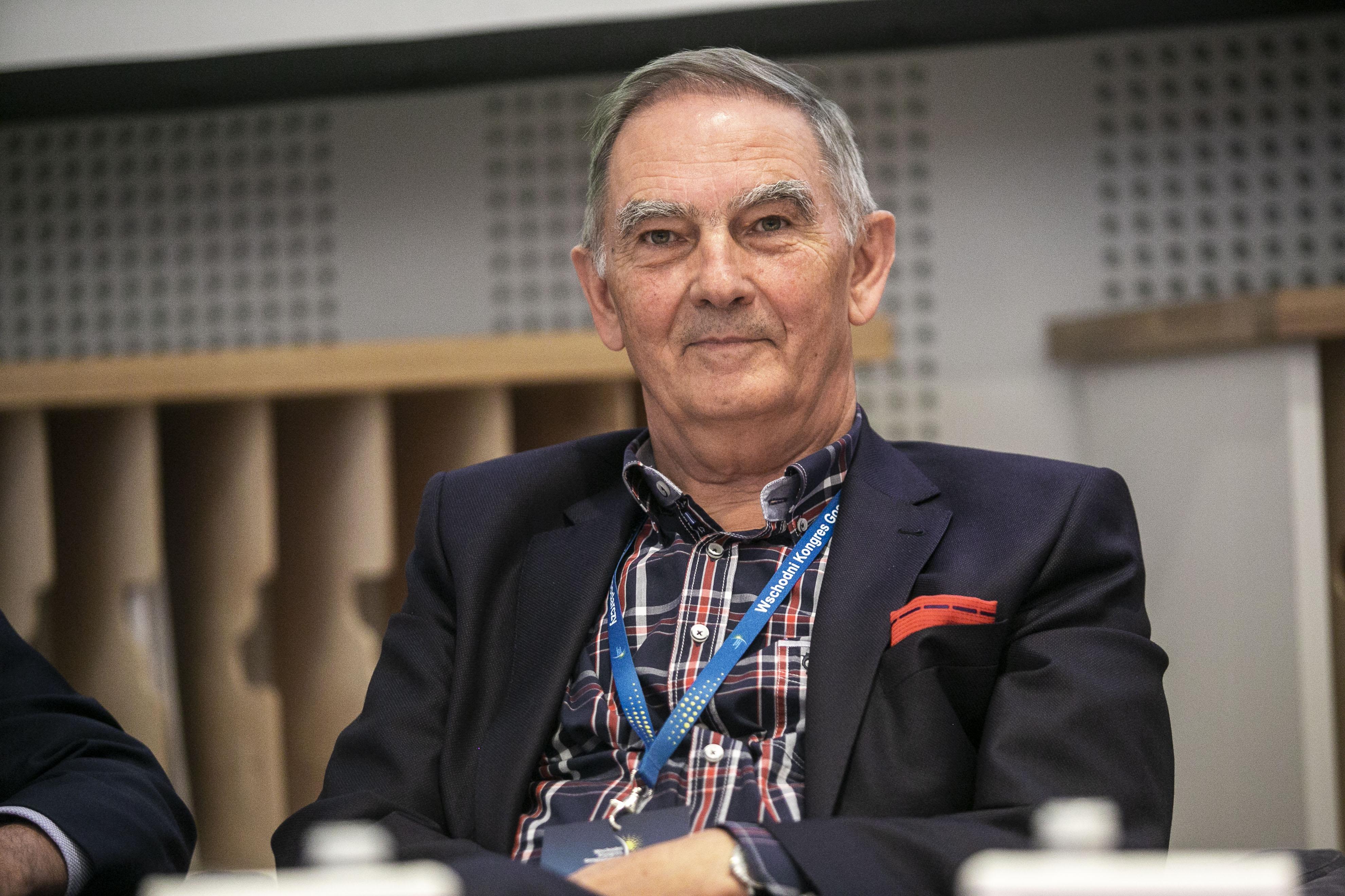 Jan Mikołuszko, szef rady nadzorczej Unibepu i honorowy ambasador woj. podlaskiego (Fot. PTWP)