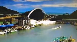 Zawalił się most nad zatoką na wschodzie Tajwanu