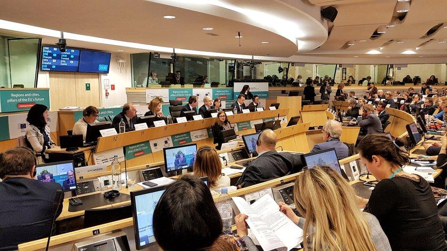 Dyskusja na temat wsparcie transformacji regionów węglowych to temat debaty w Europejskim Komitecie Regionów w Brukseli. Fot. TT/ European Committee of the Regions