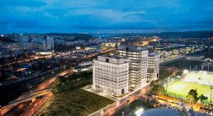 Wbudowano kamień węgielny pod największy biurowiec w Gdyni