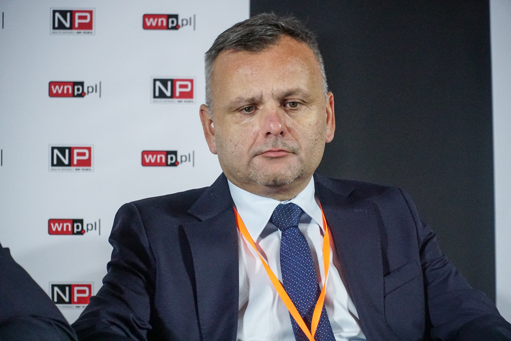 Aleksander Stabla podkreśla, że firmy górnicze muszą się skupiać przede wszystkim na wydobyciu węgla (fot. PTWP / Michał Oleksy)
