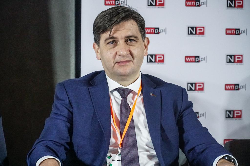 - Cokolwiek będzie działo się w przyszłości z górnictwem, doświadczenie ostatnich dwóch lat powinno wskazywać nam, że element bezpieczeństwa energetycznego i niezależności energetycznej powinien być zdecydowanie kluczowy - mówił Tomasz Rogala, prezes PGG. (Fot. PTWP)