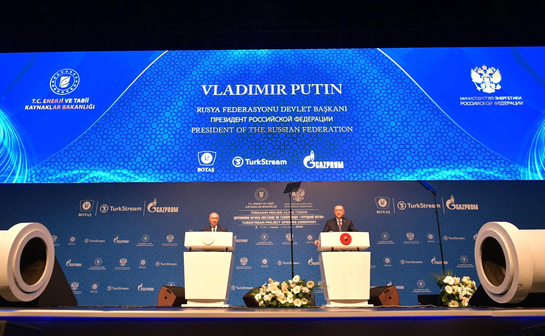 Prezydenci Rosji i Turcji, Władimir Putin i Recep Tayyip Erdogan. Fot. mat. pras.