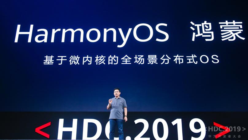 Richard Yu, CEO Huawei's Consumer Business Group podczas prezentacji systemu HarmonyOS. Fot. mat. pras.