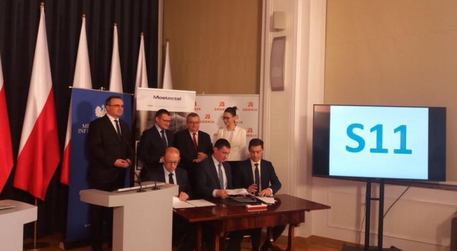 Kontrakt na budowę odcinka trasy S11 Zegrze Pomorskie – Kłanino podpisany