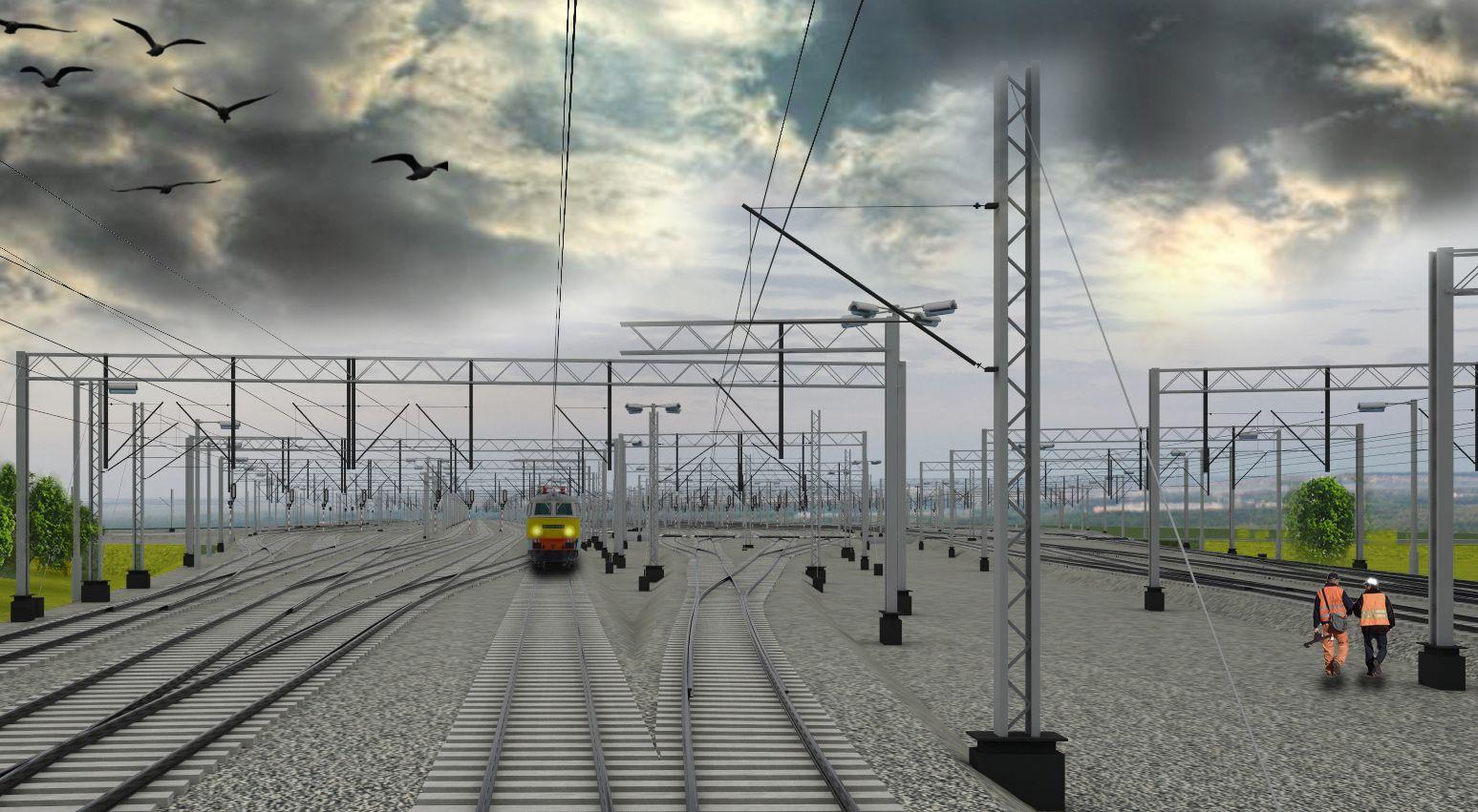Wizualizacja zmodernizowanej stacji Gdańsk Port Północny. Fot. PKP PLK