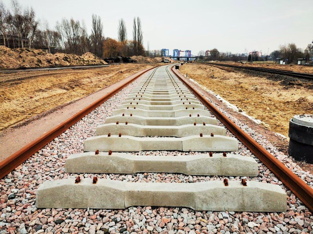 Prace na stacji Gdańsk Zaspa Towarowa. Fot. PKP PLK