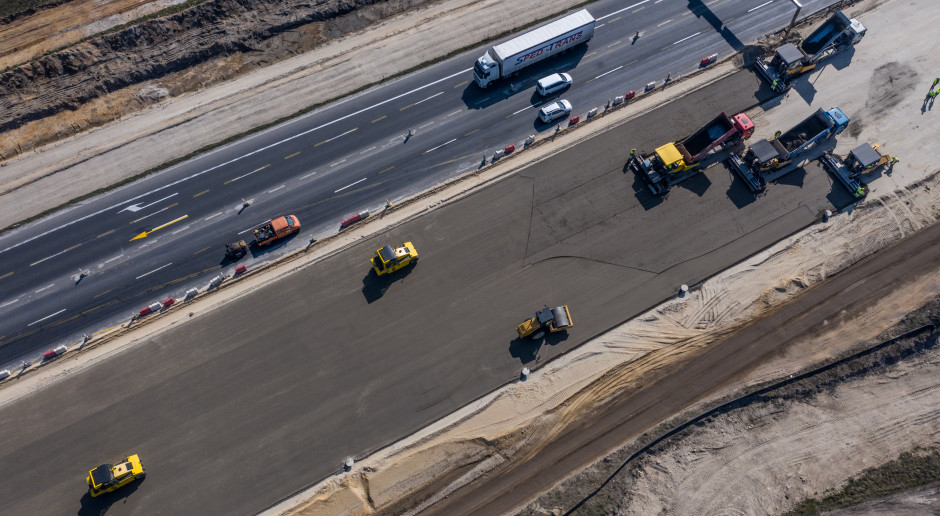 Prace na budowie autostrady A1. Fot. Budimex