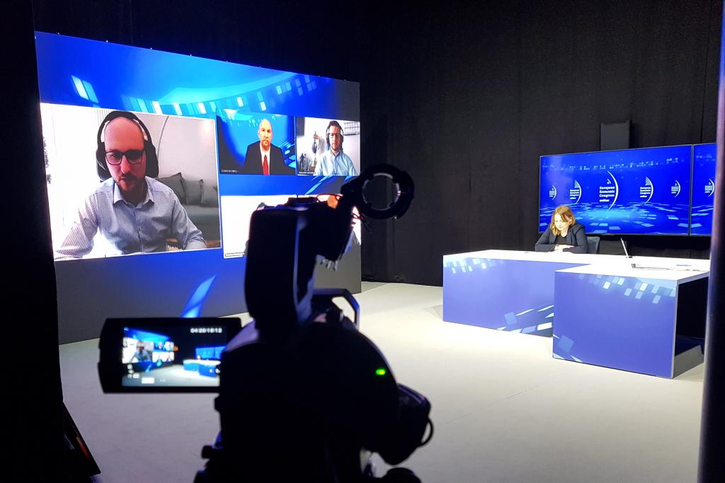 Bartosz Majewski podczas debaty na EEC Online. Fot. PTWP