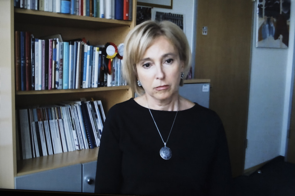 Ewa Łabno-Falęcka, dyrektor komunikacji marketingowej i relacji zewnętrznych w Mercedes-Benz Manufacturing Poland. Fot. PTWP